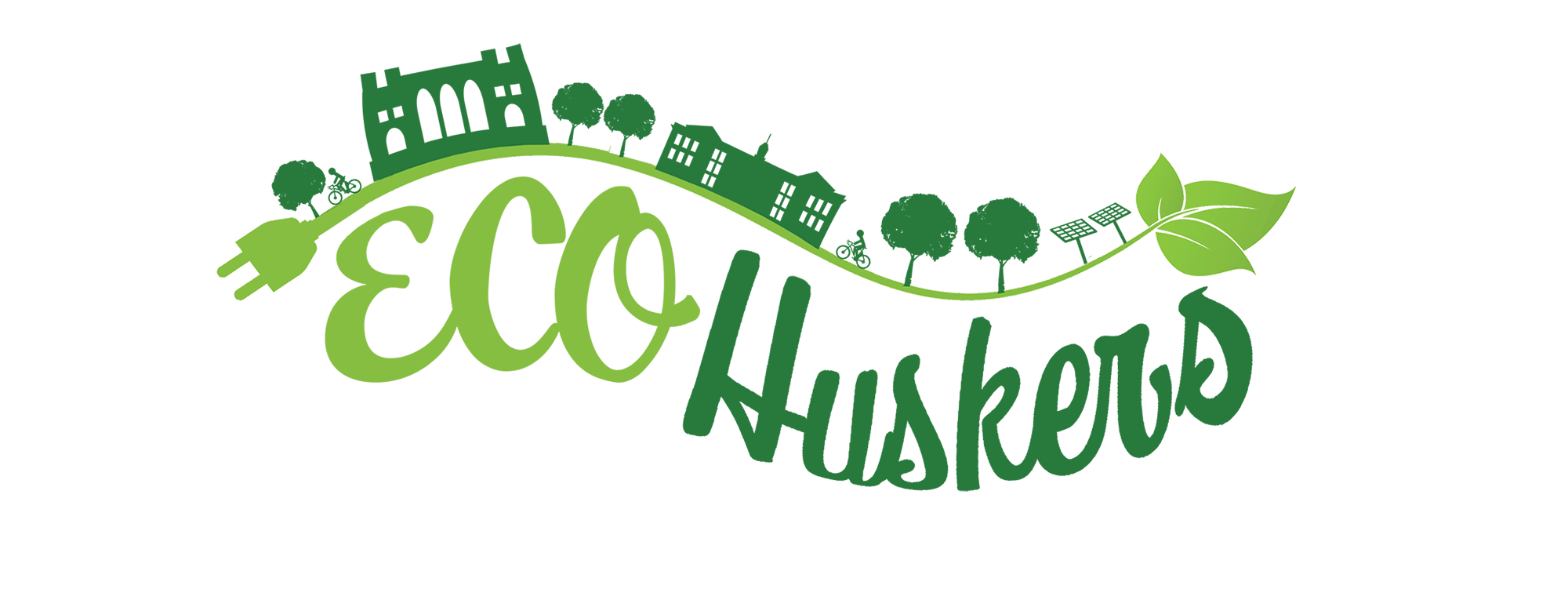 Eco Huskers logo in green
