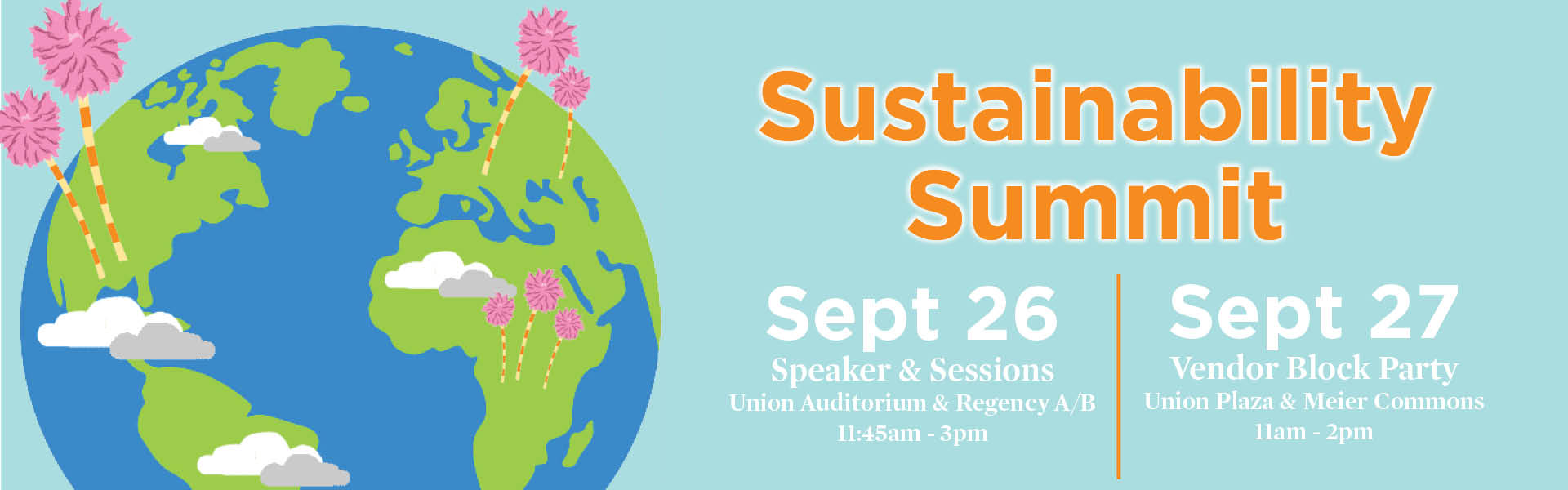 third annual sustainability summit poster