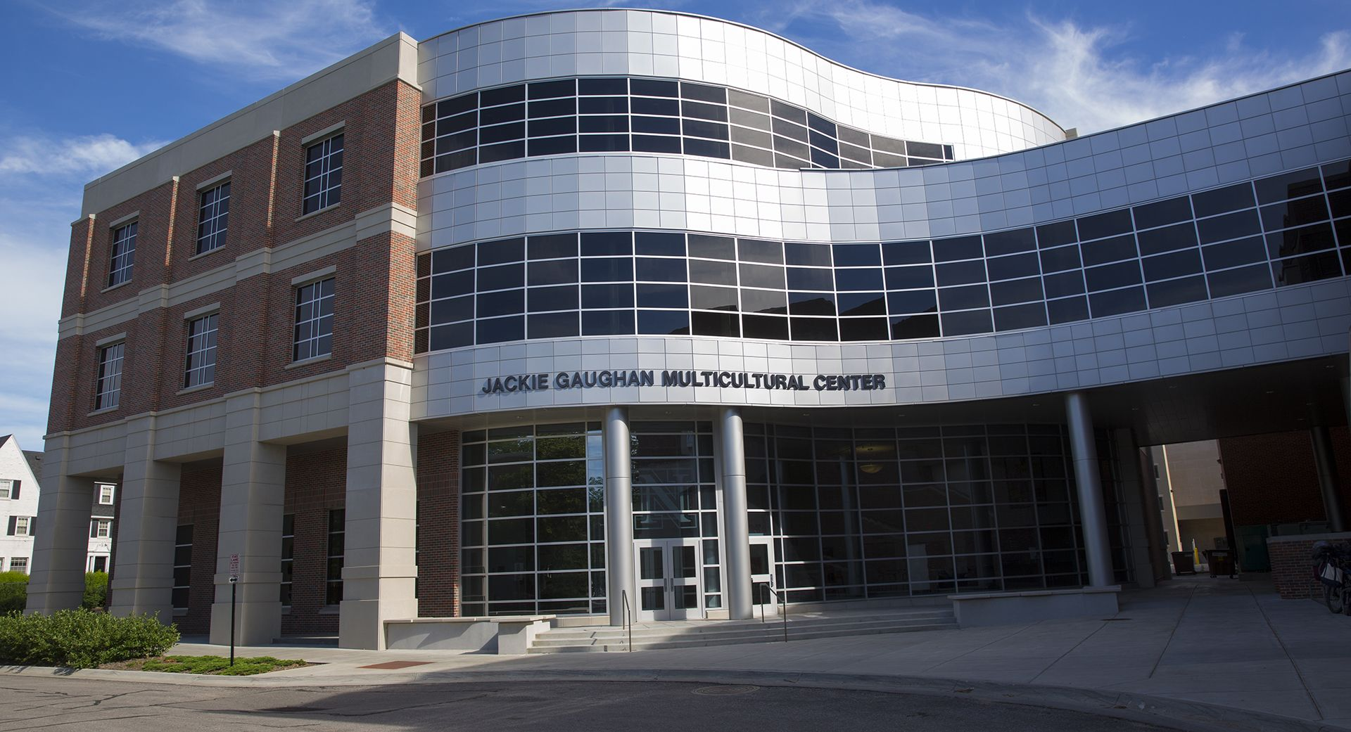 Exterior building image of Jackie Gaughn Center, awarded LEED silver certification.