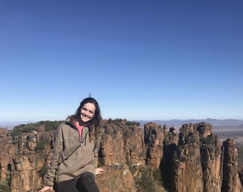 Intern Ally Dickey interns in South Africa